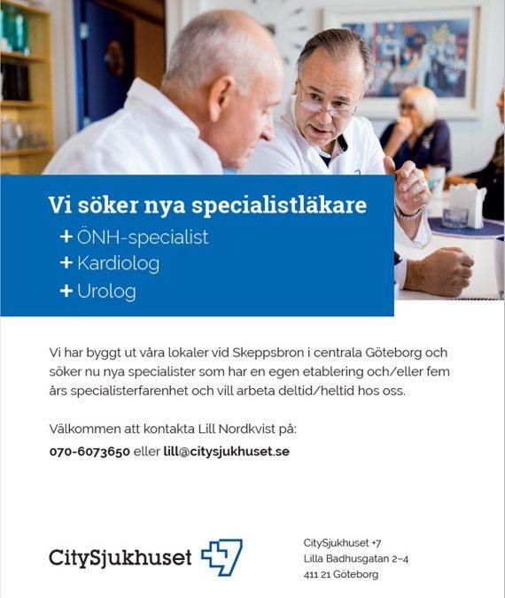 Vi söker nya specialistläkare